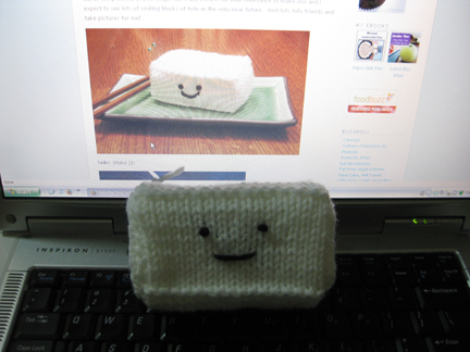 knitted tofu!